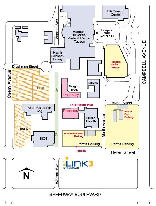university of phoenix campus map Visitor Information College Of Pharmacy university of phoenix campus map